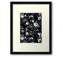 Roses Black and White Framed Print
