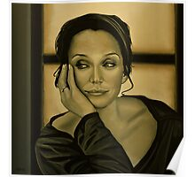 Kristin Scott Thomas Painting Poster