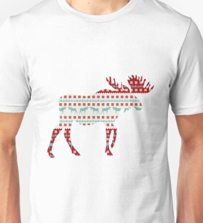 """A Moose for Christmas"" Unisex T-Shirt"