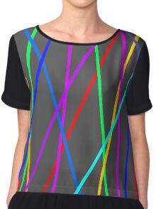 Colour Web Chiffon Top