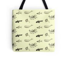 Aquatic life pattern Tote Bag