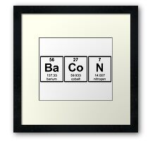 Bacon Periodic Table Element Symbols Framed Print