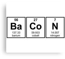 Bacon Periodic Table Element Symbols Canvas Print