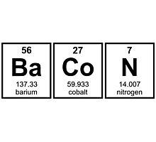 Bacon Periodic Table Element Symbols Photographic Print