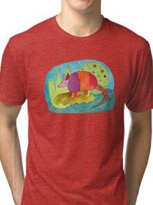 Happy Armadillo Tri-blend T-Shirt