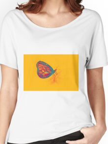 Colorful watercolor of butterfly  Women's Relaxed Fit T-Shirt