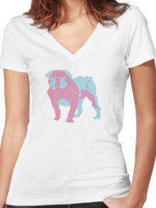 Pinky the Bulldog Women's Fitted V-Neck T-Shirt