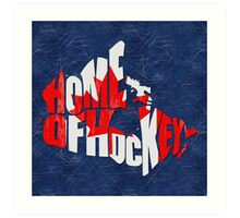 Canada Home of Hockey Calligram Map  Art Print