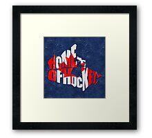 Canada Home of Hockey Calligram Map  Framed Print