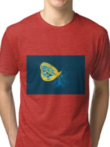 Colorful watercolor of butterfly  Tri-blend T-Shirt