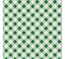 Modern,plaid,tartan,pattern,green,white,traditional,country chic Photographic Print