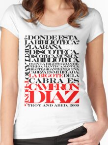 Troy and Abed Women's Fitted Scoop T-Shirt