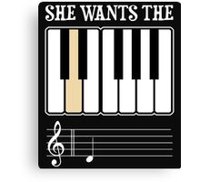 She Wants the D Piano Music Canvas Print
