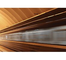 train with motion blur Photographic Print