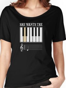 She Wants the D Piano Music Women's Relaxed Fit T-Shirt
