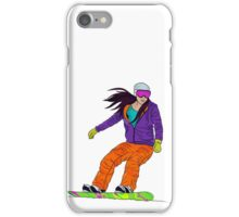 Snowboarder girl iPhone Case/Skin