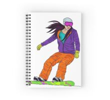 Snowboarder girl Spiral Notebook