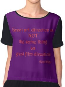 Great Art, Great Film - Gene Wilder Chiffon Top