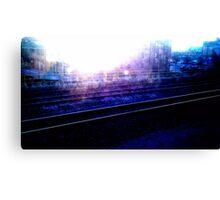 Downtown Tracks Canvas Print
