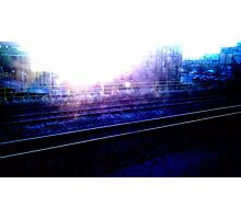 Downtown Tracks Photographic Print