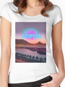 San Junipero - Black Mirror Women's Fitted Scoop T-Shirt