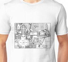 Vintage Map of The Vatican (1914) Unisex T-Shirt