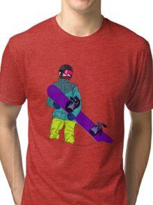 Snowboarder man with snowboard Tri-blend T-Shirt