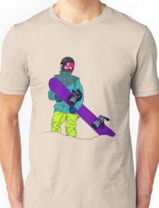 Snowboarder man with snowboard Unisex T-Shirt