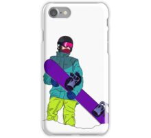 Snowboarder man with snowboard iPhone Case/Skin