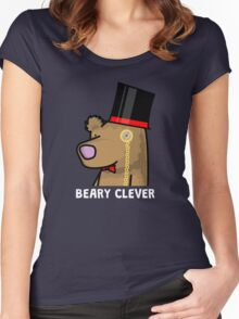 Beary Clever Women's Fitted Scoop T-Shirt