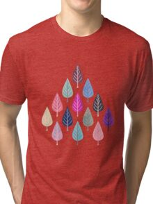 Watercolor Forest Pattern II Tri-blend T-Shirt