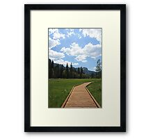 Path to Happniess Framed Print