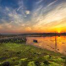Newtown Quay Sunset by manateevoyager