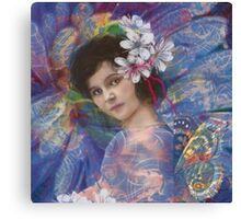 Butterfly fairy by Karen Knight Veal Canvas Print
