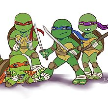 Little Mutant Ninja Turtles by LadyMeggieMan