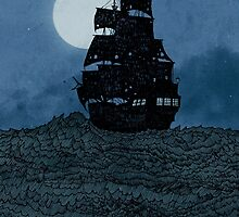 Sailing Under The Moon by djrbennett