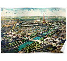 Paris Panoramic View 1900 World Expo Poster