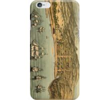 Vintage Pictorial Map of San Francisco (1884)  iPhone Case/Skin