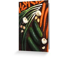 Healthy Vegetables Greeting Card