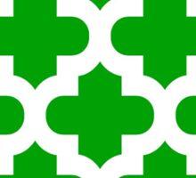 Moroccan,quatrefoil,green,white,pattern,modern,trendy,elegant,chic,decorative Sticker