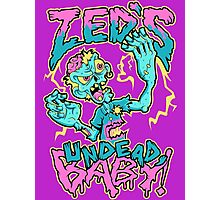 Undead Zed Photographic Print