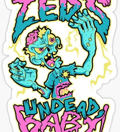 Undead Zed Sticker