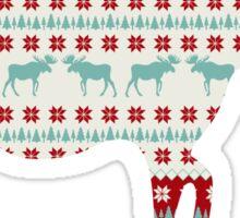 """A Moose for Christmas"" Sticker"