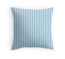 Blue stars pattern Throw Pillow