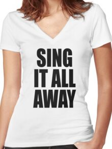 Sing It All Away Walk Off The Earth Inspired Women's Fitted V-Neck T-Shirt