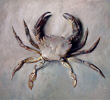 Vintage Crab Painting by BravuraMedia