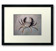 Vintage Crab Painting Framed Print