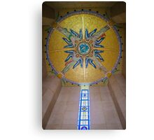 Luxembourg American Cemetery Memorial Ceiling Detail Canvas Print