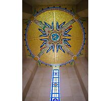 Luxembourg American Cemetery Memorial Ceiling Detail Photographic Print
