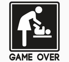 Game Over New Baby for Parent Mom by TheShirtYurt